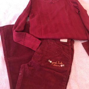 NWT gymboree rocky mountain top pants outfit 9 10